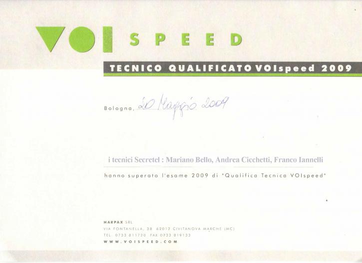 certificato Voispeed